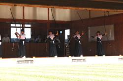 末吉町弓道場では弓道大会が行われました。