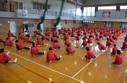 クラスマッチの準備だけでなく,開会式などの運営も保体部の生徒たちが行いました。