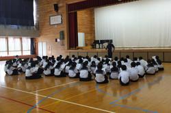 体育科の先生から応援団の練習規定の説明がありました。