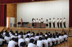 九州・全国大会へ出場する生徒たちに向けて激励のメッセージがおくられました。