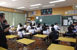 3年3組の教室では相似な図形の授業公開が行われました。