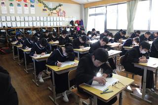 技能教科のテストでは,日頃の授業で学んだ技能も問われます。