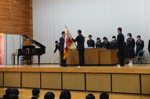 修了式に先立って表彰式が行われました。
