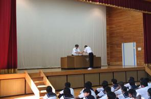 最初に部活動等の表彰が行われました。
