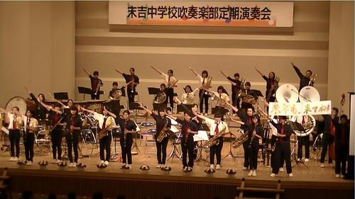 平成28年度の吹奏楽部第31回定期演奏会の模様です。